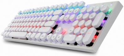 앱코 조약돌 레트로 키캡 축교환 레인보우 LED