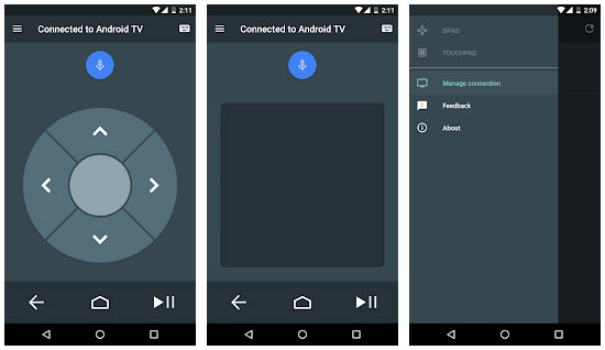 Android TV Remote Control 화면